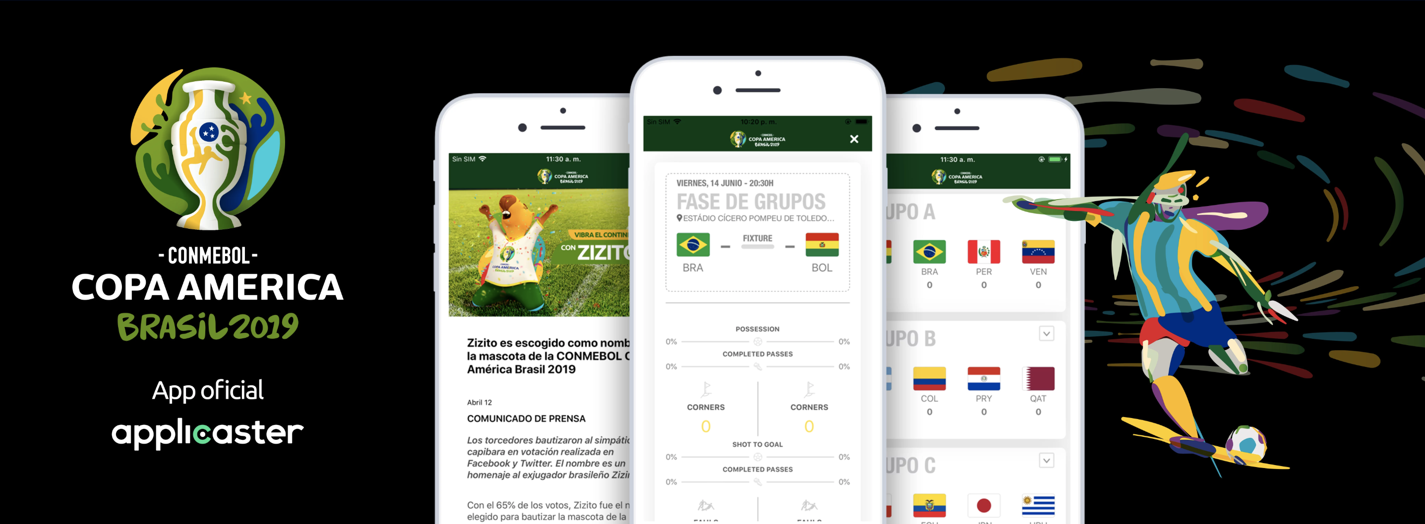 Applicaster Powers CONMEBOL Copa America 2019 Official App and Online Fan Experience
